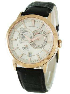 Orient Automatic Sun Moon Phases ET0P001W Mens Watch