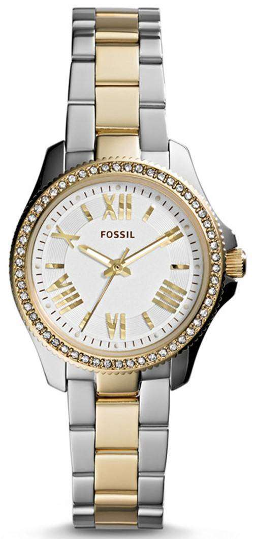 fossil cecile two tone stainless steel am4579