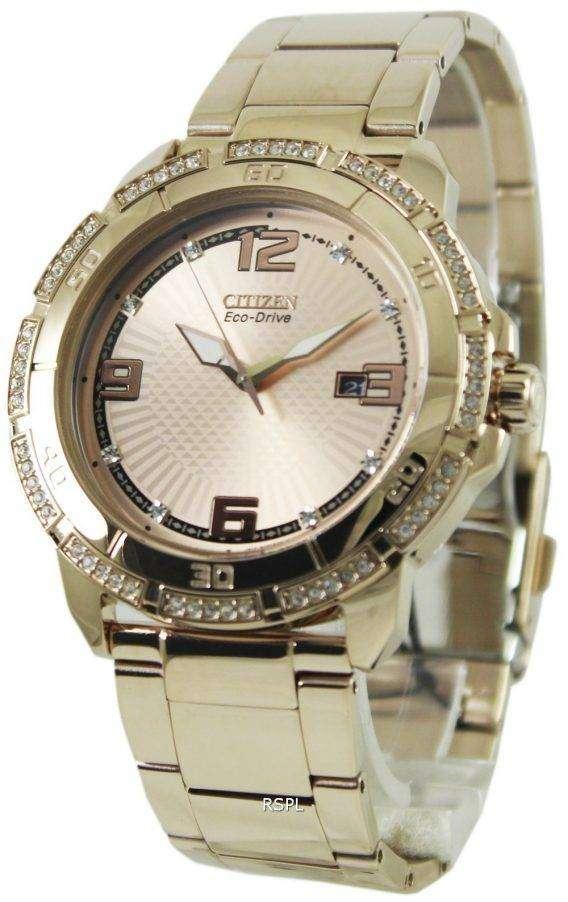 Citizen Eco-Drive Swarovski Crystal AW1343-54Q Mens Watch 1