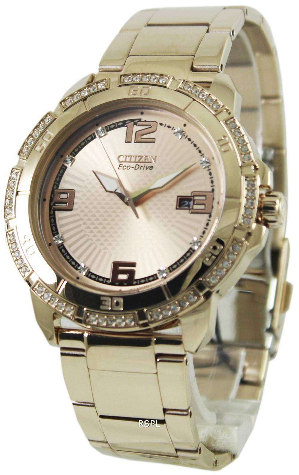 Citizens Of Beauty: Citizen Eco-Drive Swarovski Crystal AW1343-54Q Mens Watch