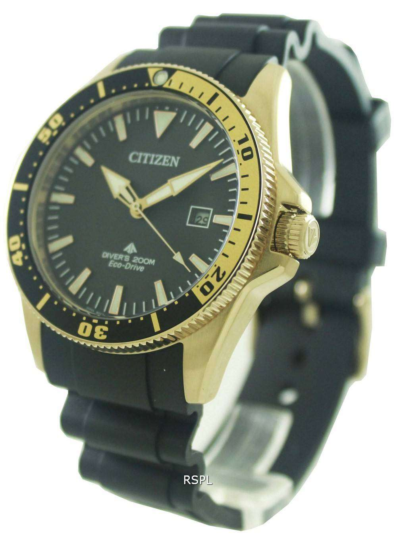 Citizen eco drive professional divers bn0104 09e mens for Citizen eco dive