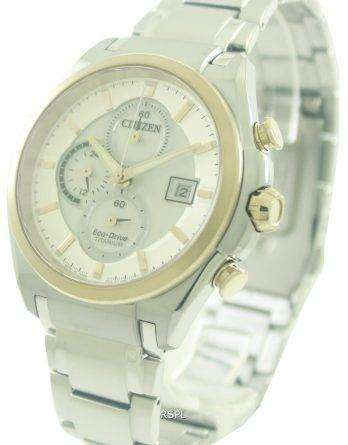 Citizen Eco-Drive Chronograph Super Titanium CA0356-55A Mens Watch