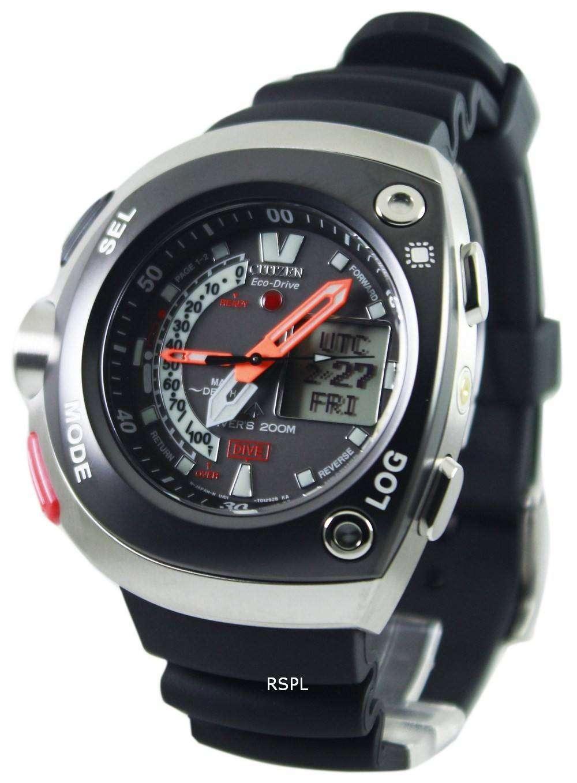 Citizen diver depth meter promaster cyber aqualand jv0020 04e mens watch downunderwatches - Citizen promaster dive watch ...
