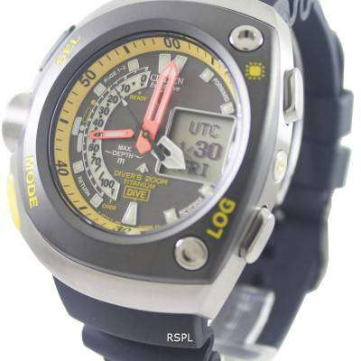 Citizen diver titanium promaster cyber aqualand watch jv0055 00e downunderwatches - Citizen titanium dive watch ...