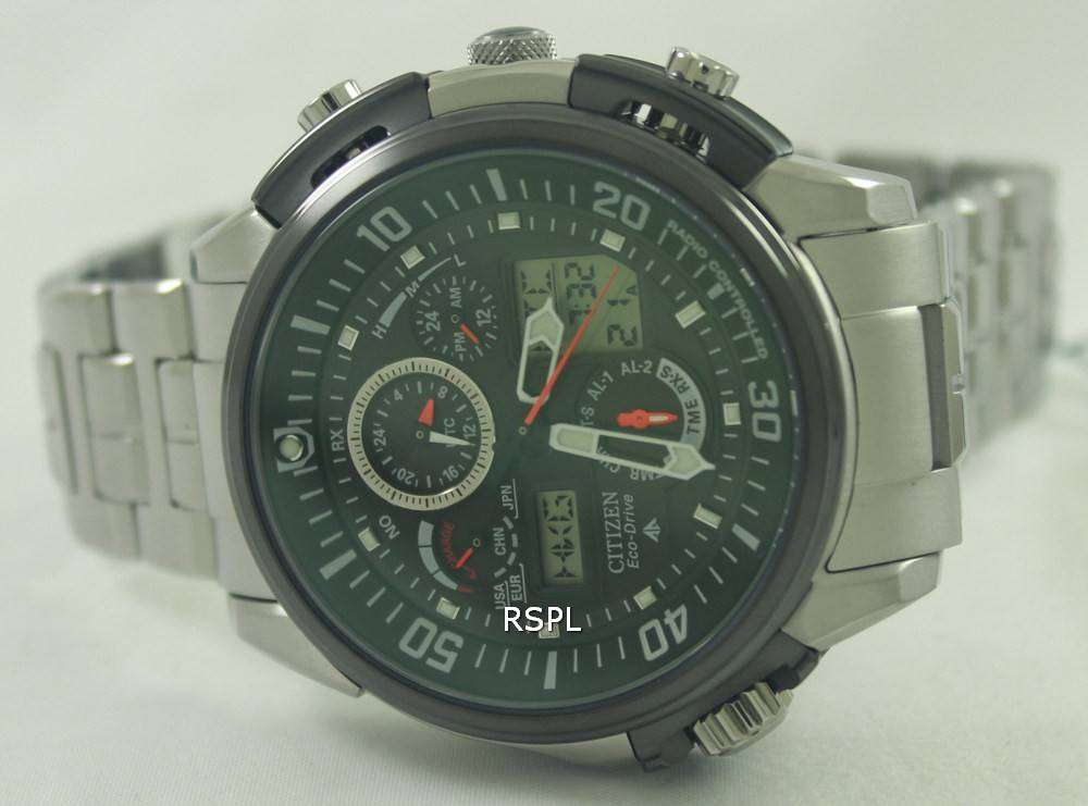 chronograph watch a atomic flight skyhawk citizen men t s watches ip