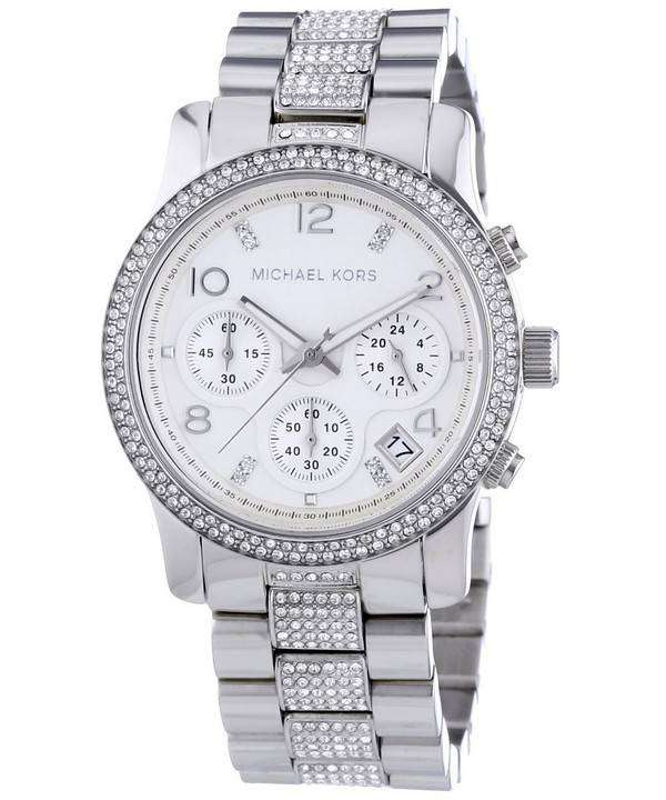 michael kors runway chronograph crystals mk5825 womens watch downunderwatches