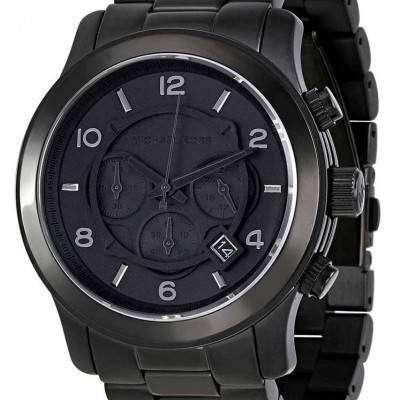 Michael Kors Blacked Out Runway Chronograph MK8157 Mens Watch 1