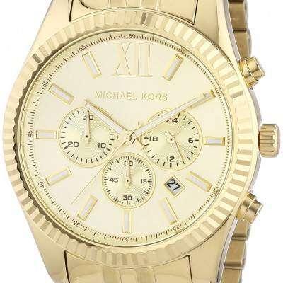 Michael Kors Lexington Chronograph Champagne Dial MK8281 Mens Watch 1