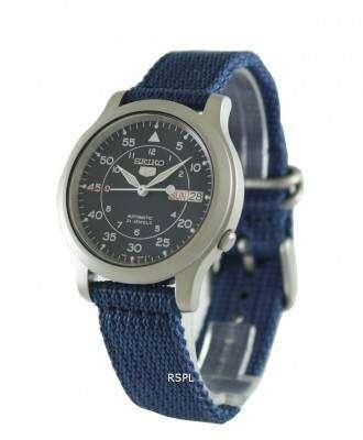 Seiko Automatic Military Nylon Mens Watch SNK807K2 1