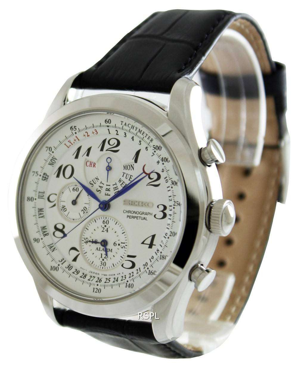 Seiko chronograph perpetual calendar spc131p1 spc131p mens watch downunderwatches for Calendar watches