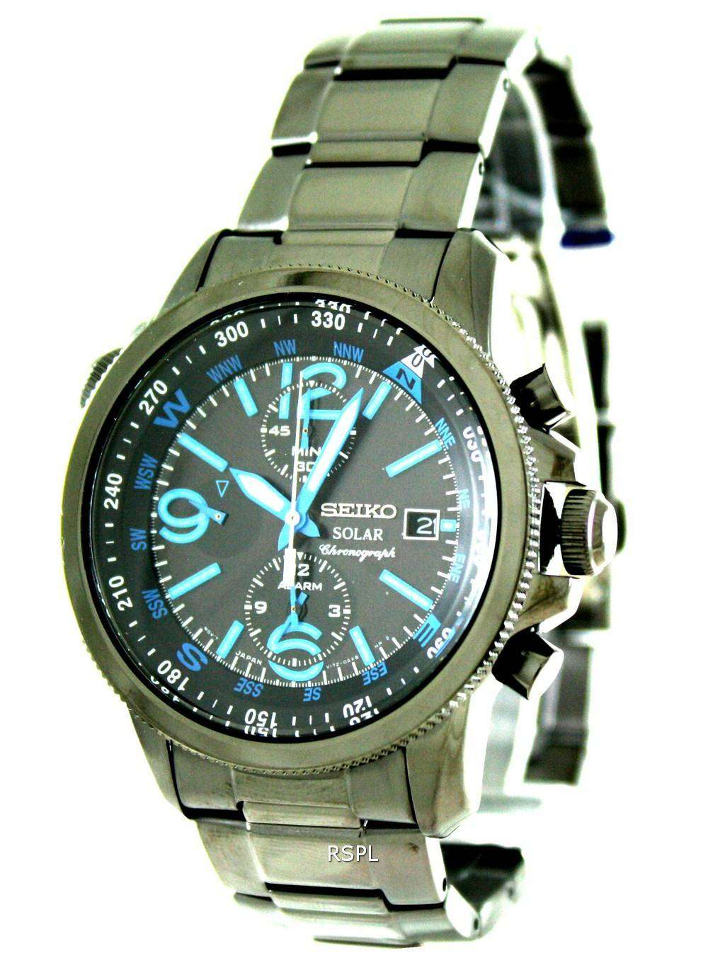 seiko solar alarm chronograph ssc079p1 ssc079 ssc079p mens. Black Bedroom Furniture Sets. Home Design Ideas