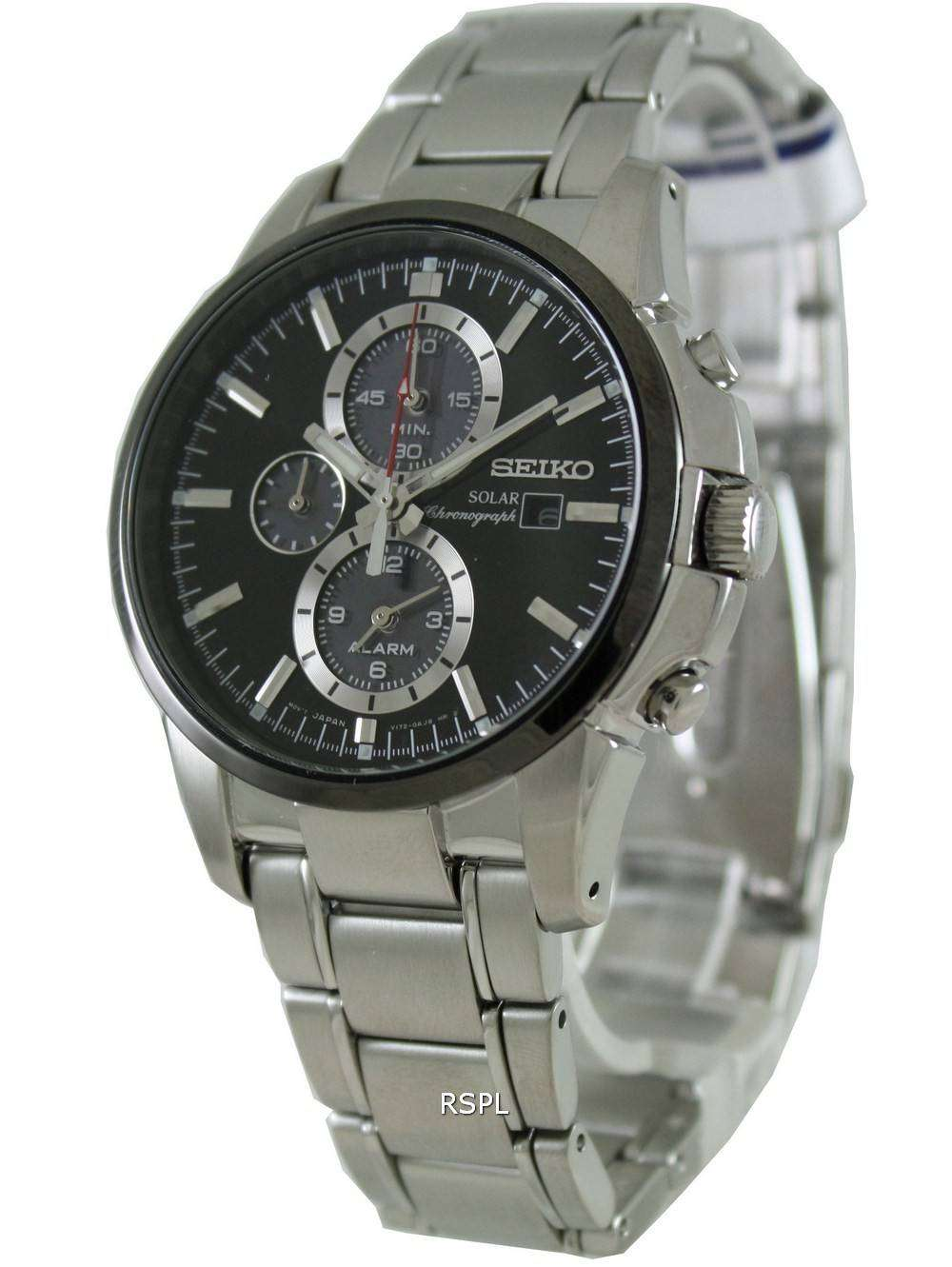 seiko solar alarm chronograph ssc087p1 ssc087 ssc087p mens. Black Bedroom Furniture Sets. Home Design Ideas
