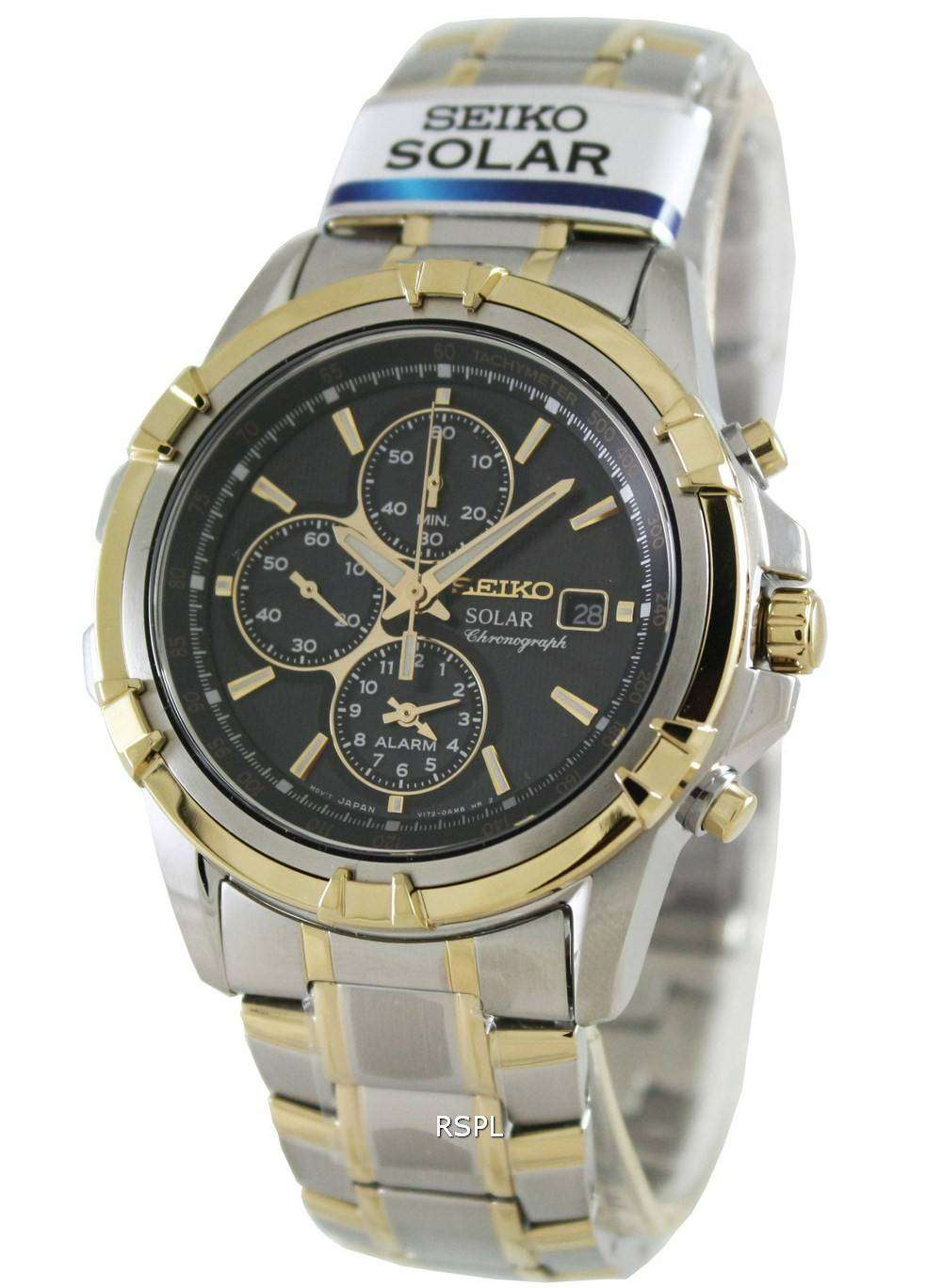 seiko chronograph solar ssc142p1 ssc142p ssc142 mens watch. Black Bedroom Furniture Sets. Home Design Ideas
