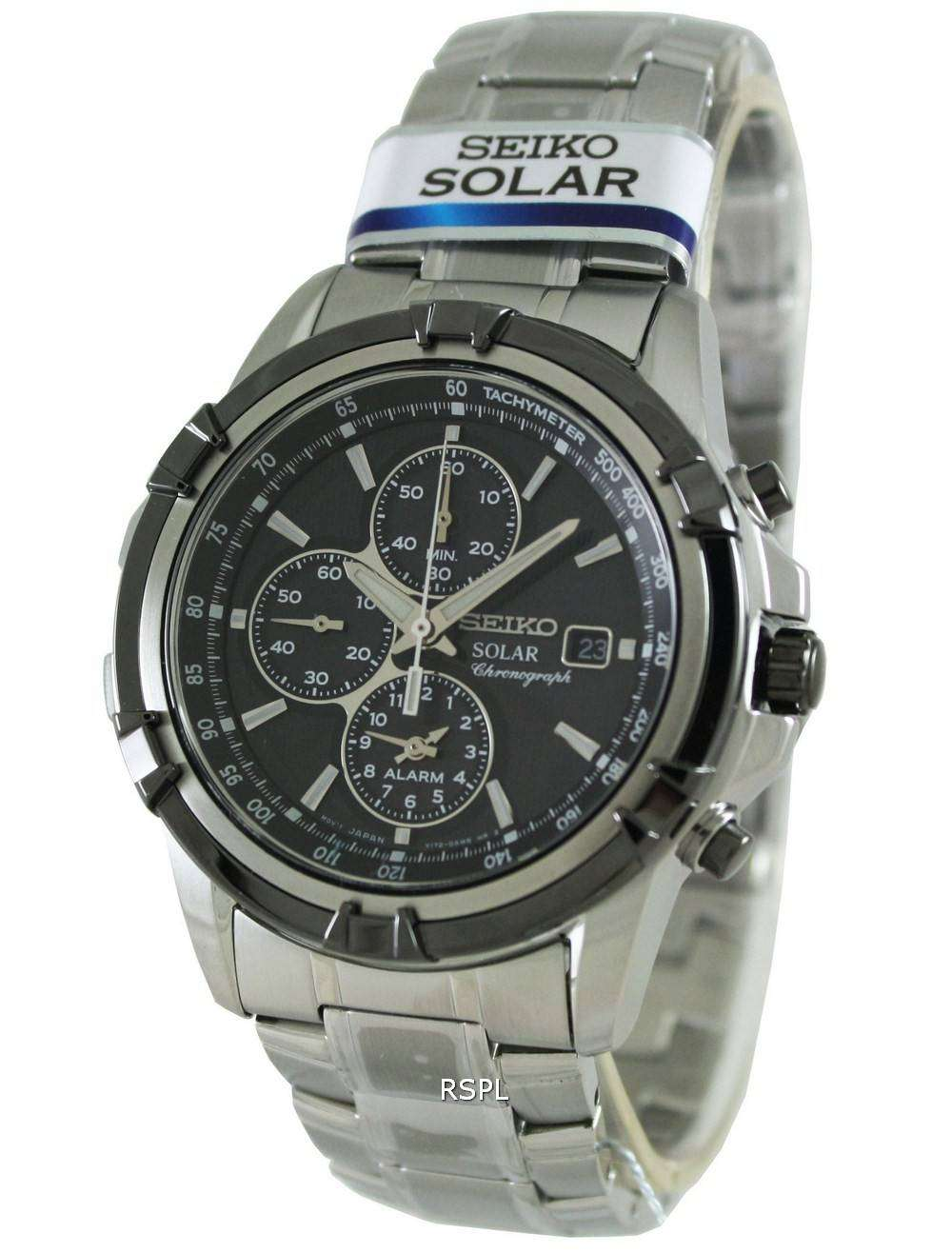 seiko chronograph solar ssc147p1 ssc147p ssc147 mens watch. Black Bedroom Furniture Sets. Home Design Ideas