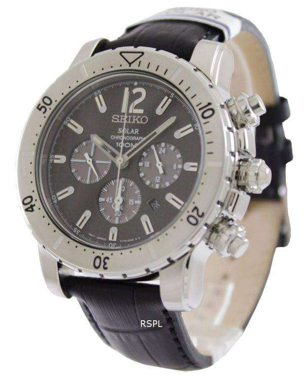 seiko solar chronograph ssc223p2 mens watch downunderwatches. Black Bedroom Furniture Sets. Home Design Ideas