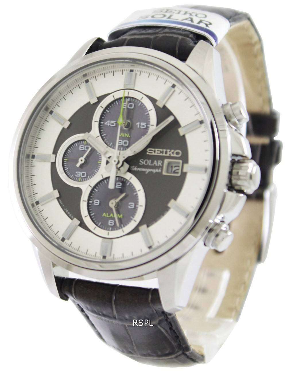 seiko solar chronograph ssc259p1 ssc259p mens watch. Black Bedroom Furniture Sets. Home Design Ideas
