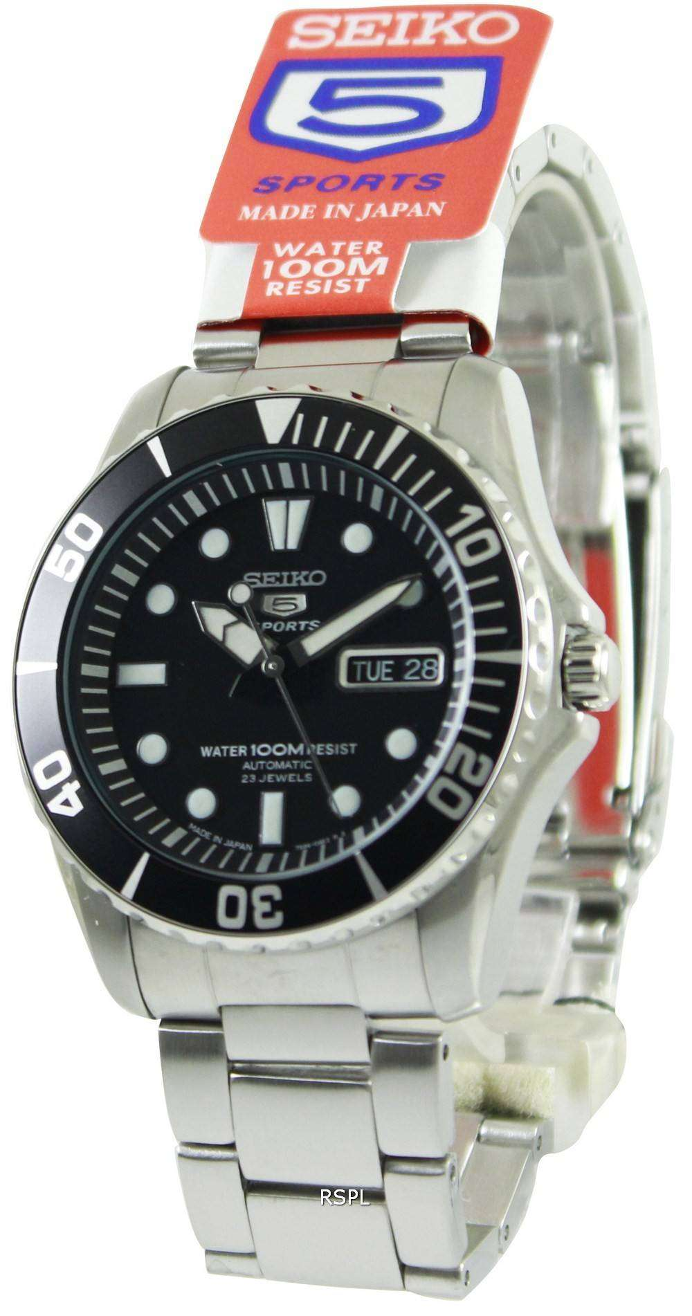 seiko automatic divers 23 jewels 100m made in japan. Black Bedroom Furniture Sets. Home Design Ideas