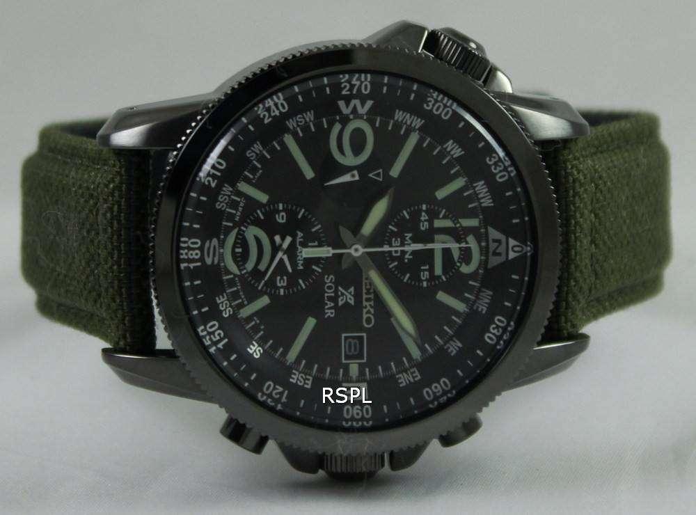 Seiko Prospex Solar Military Alarm Chronograph SSC295P1 ...