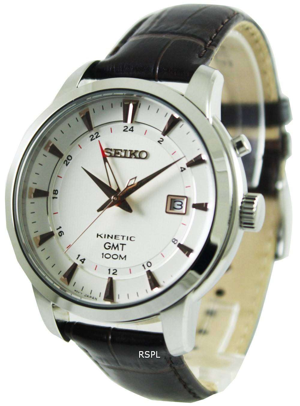 Seiko kinetic gmt sun035p1 sun035p mens watch downunderwatches for Seiko kinetic watches
