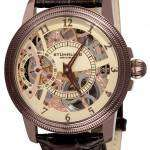 Stuhrling Original Brumalia Mechanical Watch Champagne Dial 228.3365K77 Mens Watch
