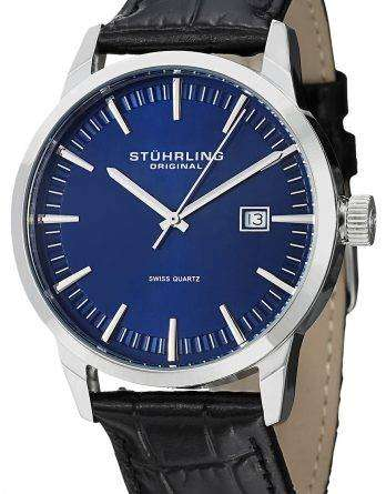 Stuhrling Original Classic Ascot 42 Swiss Quartz Date Display 555A.04 Mens Watch