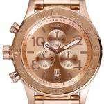 Nixon Quartz Chronograph Rose Gold-Plated 200M A037-897-00 Mens Watch