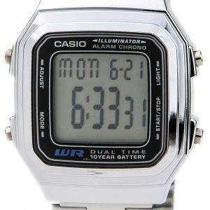 Casio Digital Stainless Steel Alarm Chrono Dual Time A178WA-1ADF A178WA-1A Mens Watch