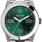 Nixon Corporal SS Green Sunray Dial A346-1696-00 Mens Watch