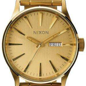 Nixon Sentry SS All Gold A356-502-00 Mens Watch