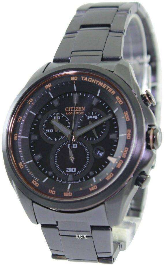 Citizen WDR Eco-Drive Chronograph Tachymeter AT2187-51E Mens Watch 1
