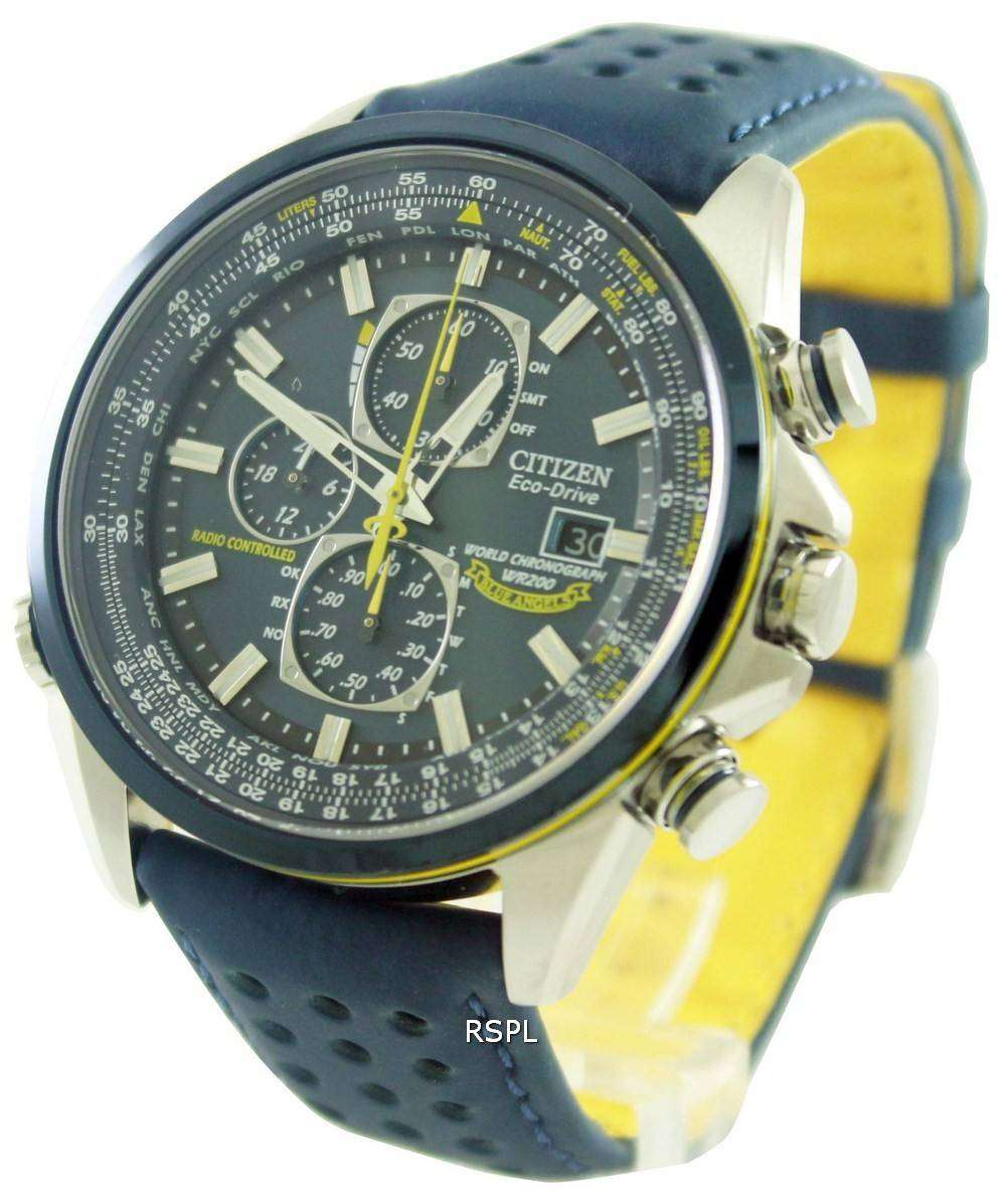 7c448aa45 Citizen Eco-Drive Blue Angels Radio Controlled World Chronograph AT8020-03L Mens  Watch