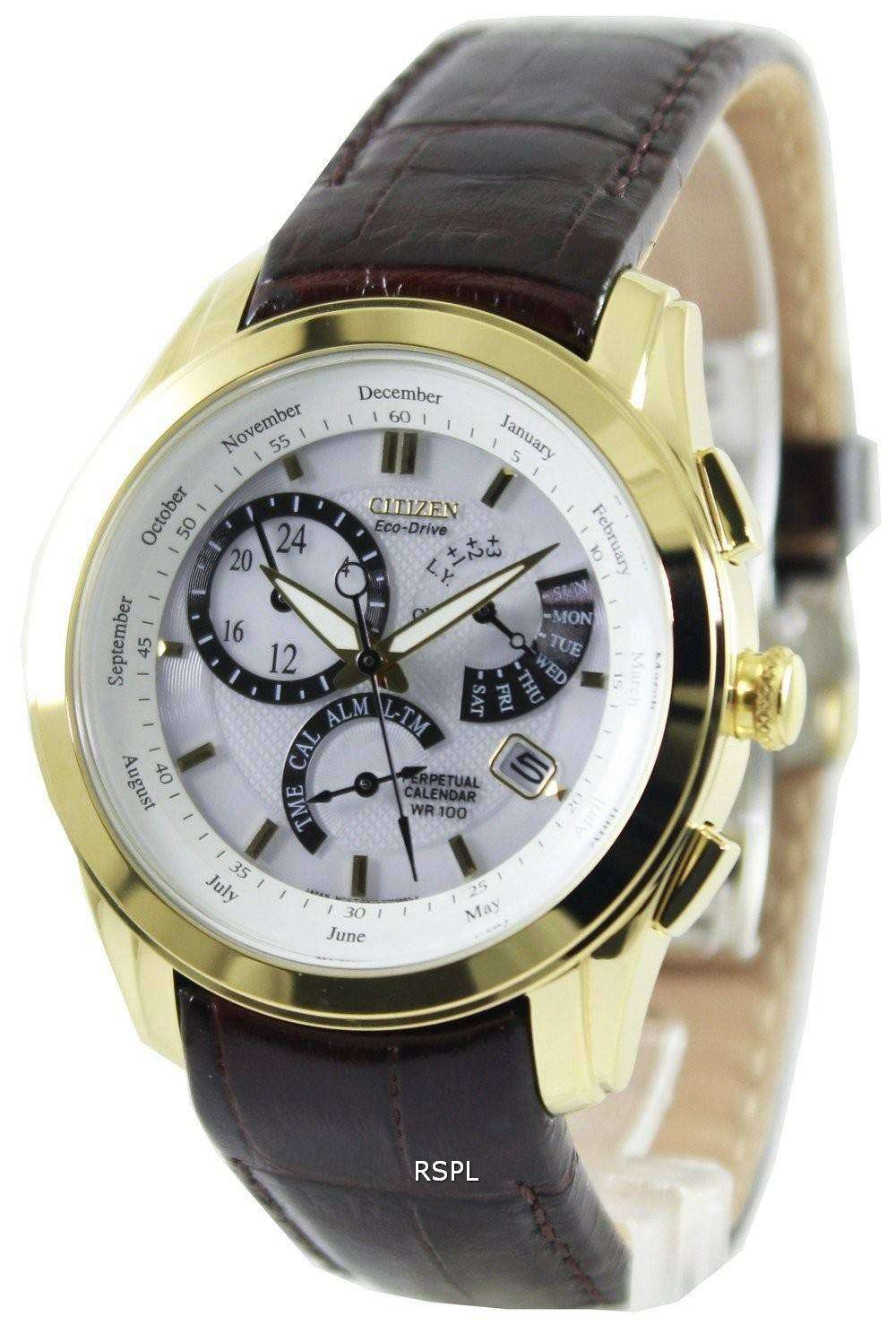 Citizen perpetual calendar eco drive bl8002 08abl8003 05a mens watch downunderwatches for Calendar watches