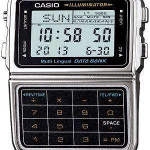 Casio Digital Stainless Steel Data Bank Multi-Lingual DBC-611-1DF DBC-611-1 Mens Watch