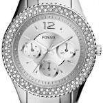 Fossil Stella Multifunction Crystal-Accented Silver-Tone ES3588 Womens Watch