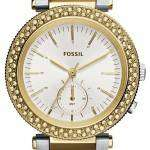 Fossil Urban Traveler Multifunction Silver Dial Two-tone Stainless Steel ES3850 Womens Watch