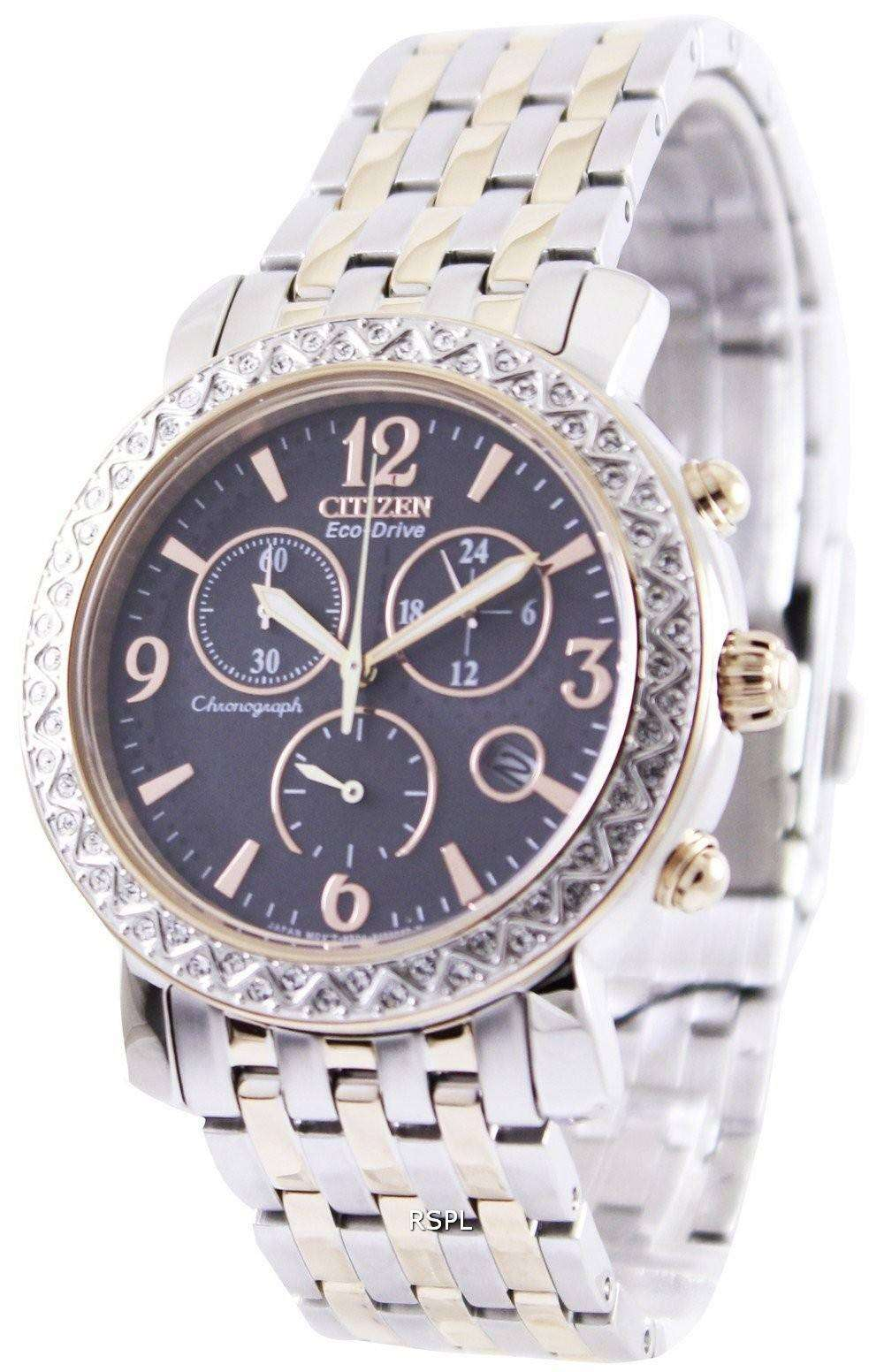 Citizens Of Beauty: Citizen Eco-Drive Chronograph FB1296-51H Womens Watch