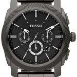 Fossil Machine Chronograph Smoky IP Stainless Steel FS4662 Mens Watch