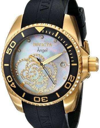 Invicta Angel Collection Diamonds Gold Tone 0489 Womens Watch
