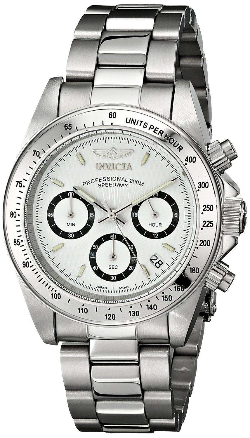 Invicta Speedway 200M Chronograph White Dial INV9211/9211 Mens Watch - DownUnderWatches