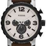 Fossil Nate Chronograph Brown Leather JR1390 Mens Watch