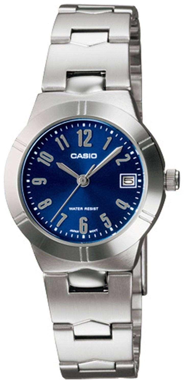 casio analog quartz blue ltp 1241d 2a2df ltp 1241d