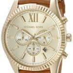 Michael Kors Lexington Chronograph Gold Dial MK8447 Mens Watch