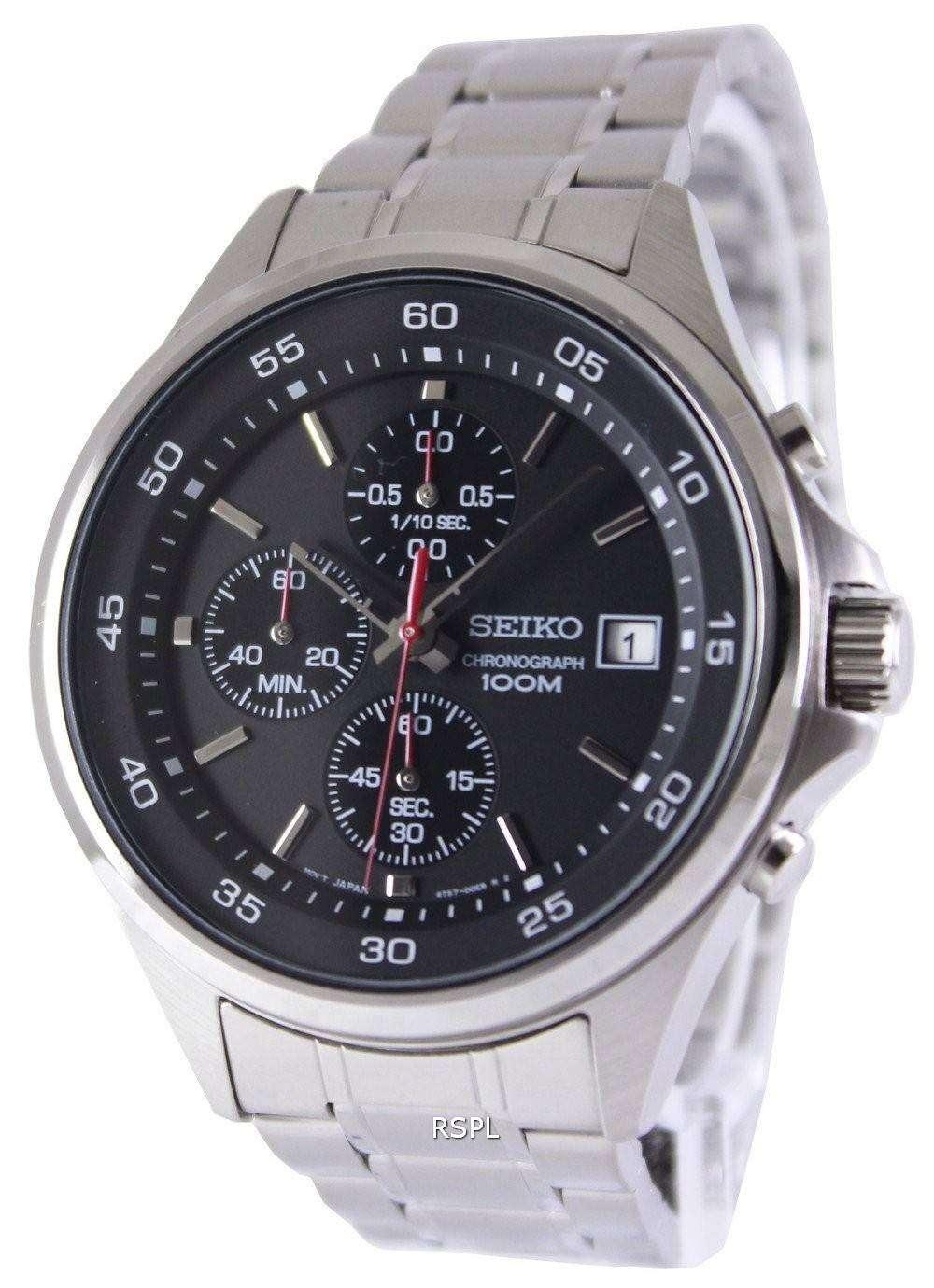 seiko chronograph quartz 100m sks477p1 sks477p mens watch. Black Bedroom Furniture Sets. Home Design Ideas