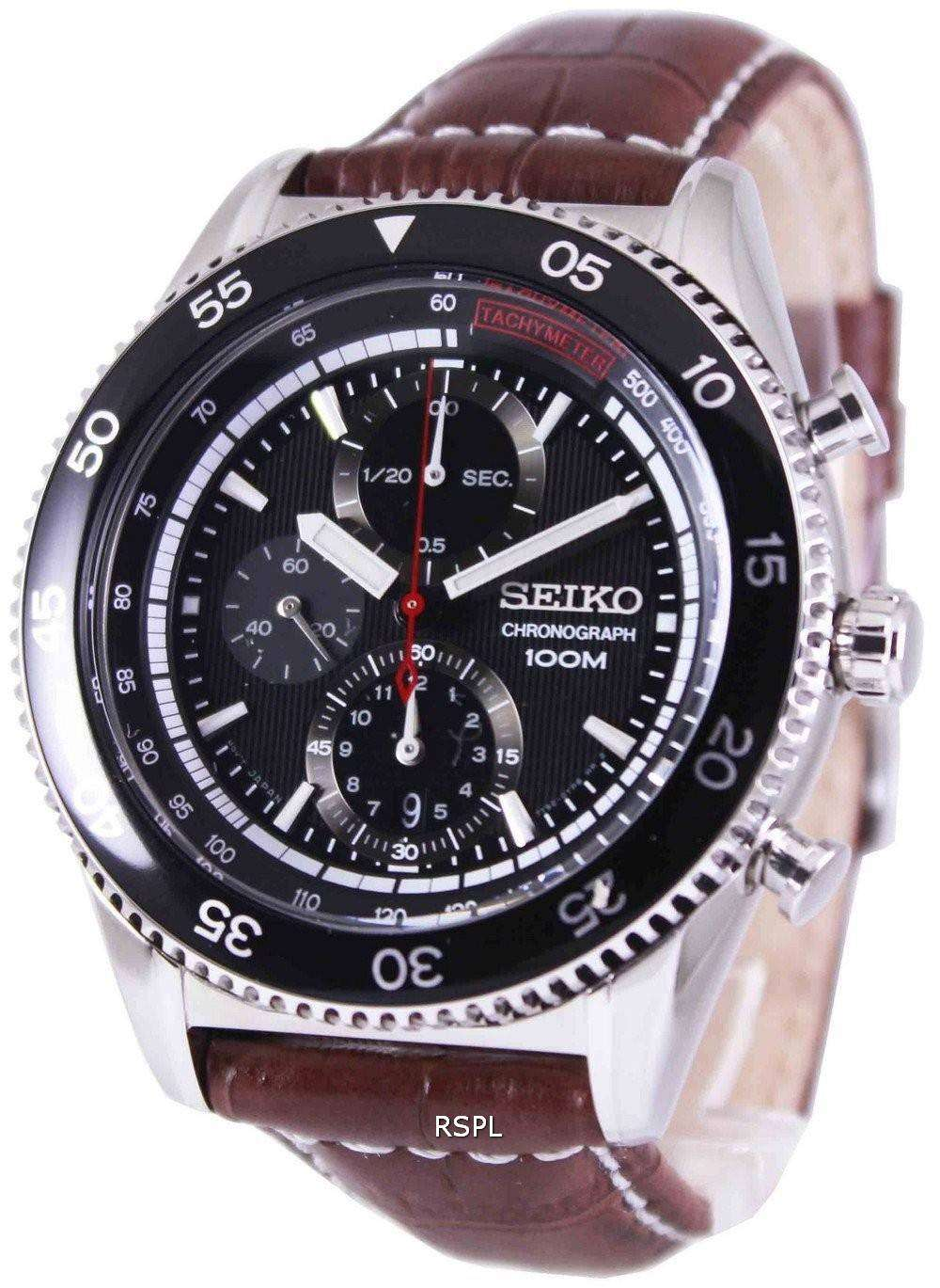 Second Hand Watches >> Seiko Chronograph Tachymeter 100M SNDG57P2 Mens Watch ...