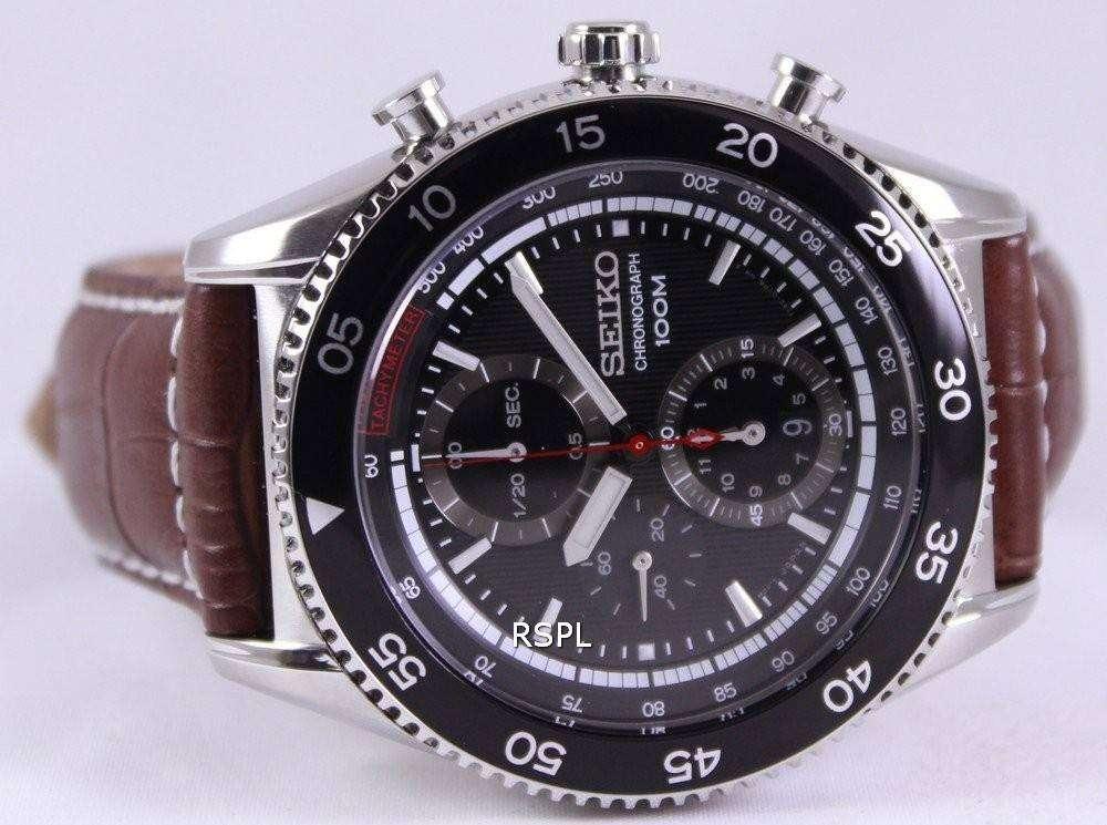 seiko chronograph tachymeter 100m sndg57p2 mens
