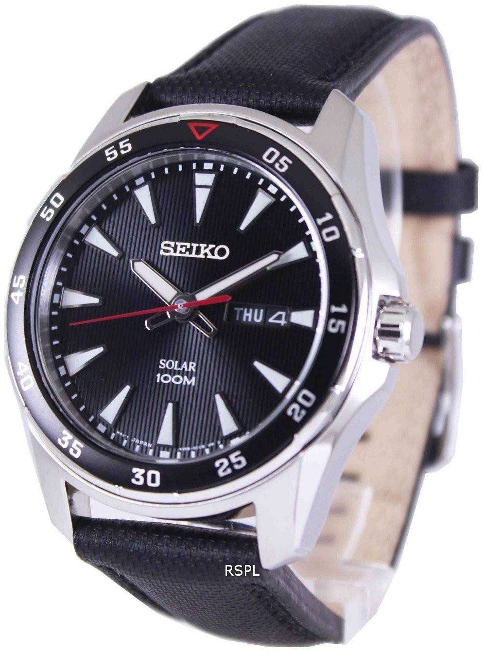 Seiko solar 100m sne393p2 mens watch downunderwatches for Seiko solar