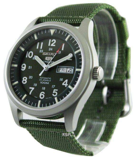 Seiko 5 Military Automatic Sports SNZG09K1 SNZG09 SNZG09K Mens Watch 1