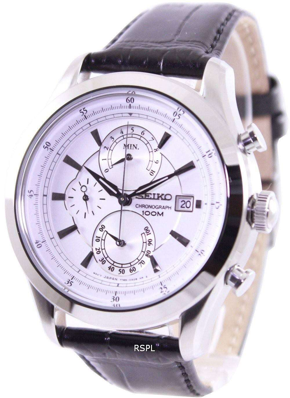 seiko chronograph 100m spc163p2 mens watch downunderwatches. Black Bedroom Furniture Sets. Home Design Ideas