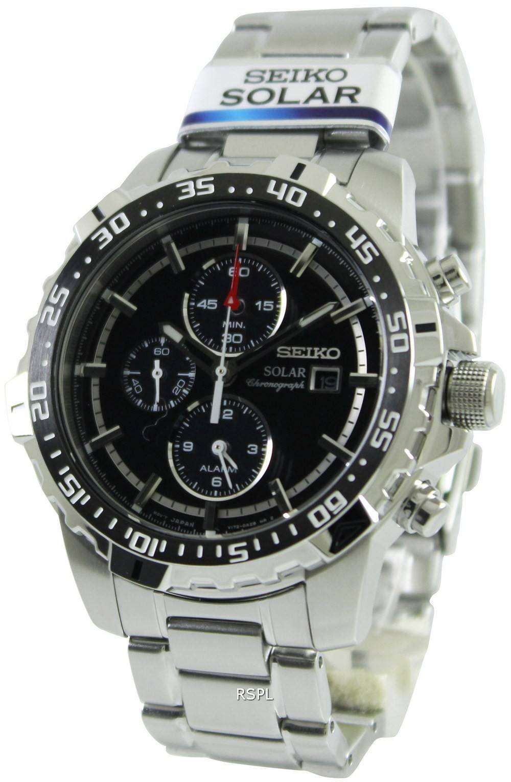 seiko solar alarm chronograph ssc299p1 ssc299p ssc299 mens. Black Bedroom Furniture Sets. Home Design Ideas