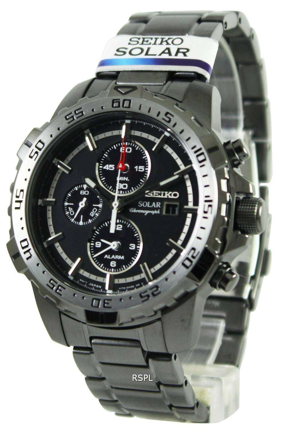 seiko solar chronograph ssc301p1 ssc301p ssc301 mens watch. Black Bedroom Furniture Sets. Home Design Ideas